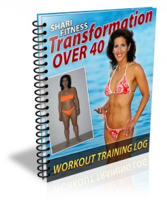 Transformation Over 40 Workout Training Logs by Shari Fitness